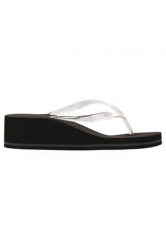 Women's wedge flip flops with an EVA sole