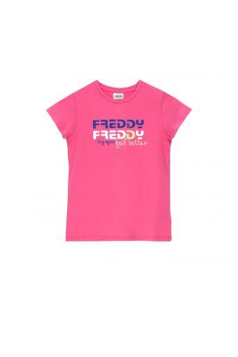 Camiseta con estampado de color – Niña 6-8 años