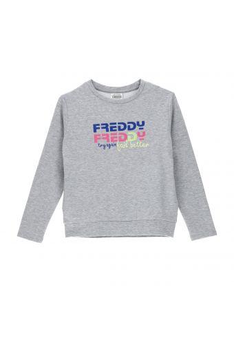 Sweat-shirt en tissu mélangé avec imprimé Freddy coloré - Fille 10 - 16 ans