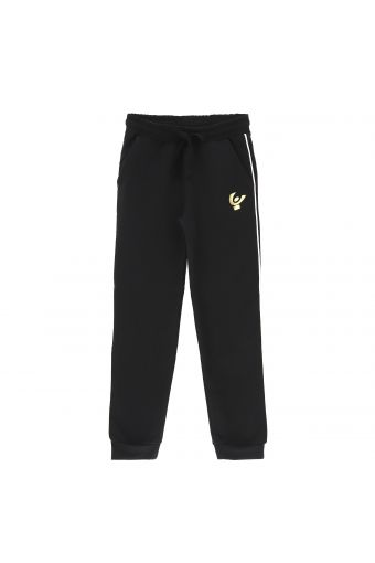 Athletic trousers with a contrast lateral band - Girls (6-8 years)
