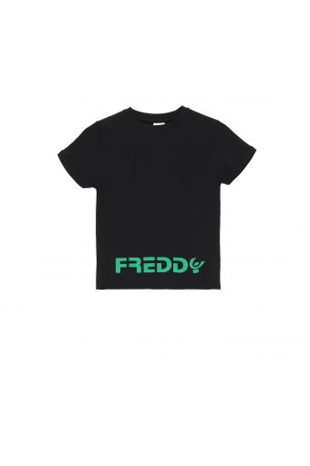 Camiseta negra con estampado FREDDY verde - Chica 10-16