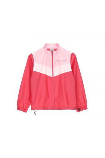 Fuchsiafarbene, leichte Jacke mit Reißverschluss - Mädchen 6-8 Jahre