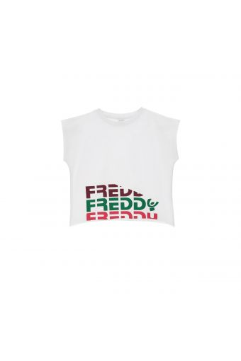 Camiseta recortada con estampado Freddy de color - Chica 10-16