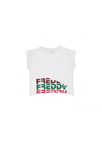 Camiseta recortada con estampado Freddy de color - Niña 6-8 años