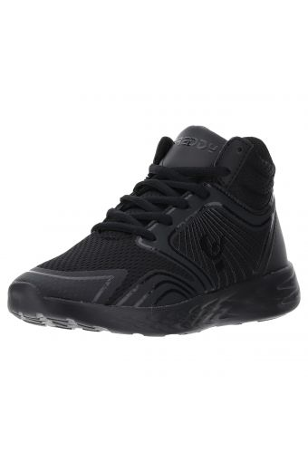 Ultra-light high ankle black sneakers