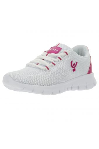 Ultralight white mesh sneakers with contrast details