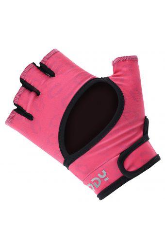 Fitness-Handschuhe für Damen aus rutschfestem Material mit Mesh-Animalieraufdruck