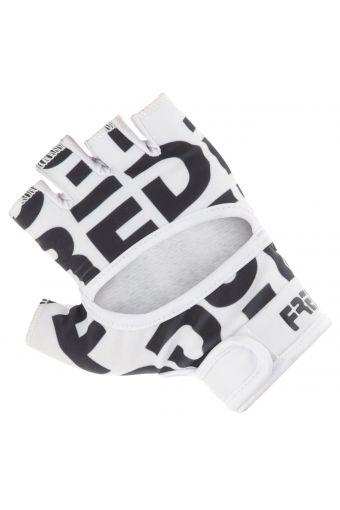 Women's non-slip fitness gloves with a textural maxi logo