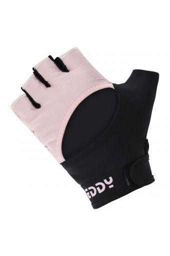 Rutschfeste Fitness-Handschuhe für Damen aus zweifarbigem Mesh-Stoff