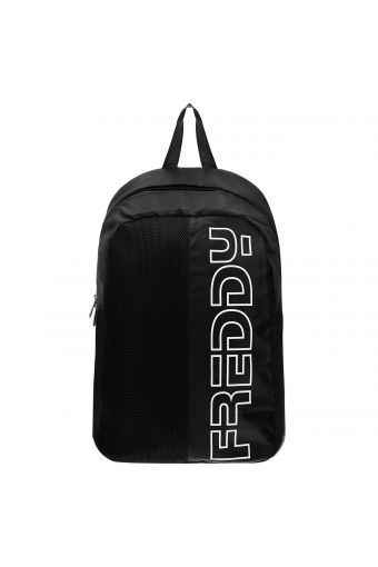 Nylon backpack with a padded back panel and shoulder straps