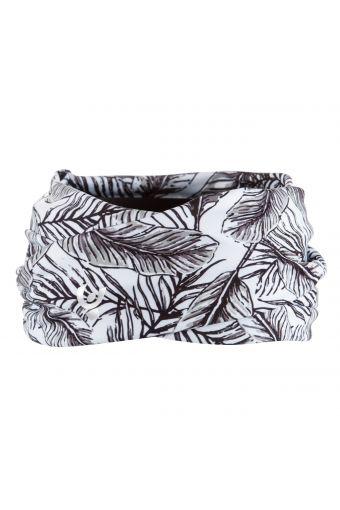 Haarband, vorne überkreuzt aus D.I.W.O.® mit tropischem Allover-Druckmotiv