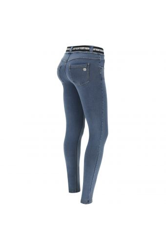 N.O.W.® Pants Denim-effect slim fit tapered leg  trousers