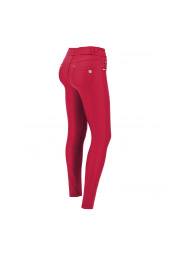 Slim-fit N.O.W.® Pants trousers in faux leather