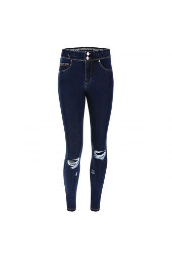N.O.W.® Pants mit mittlerem Taillenbund aus Tencel-Denim mit Rissen