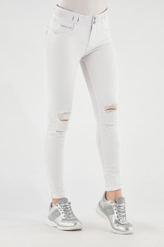 N.O.W.® Pants trousers with concealed belt loops and rips