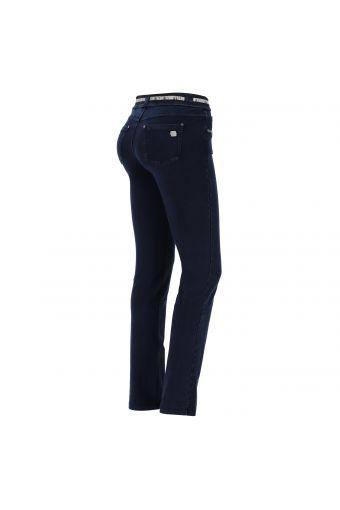 N.O.W.® Pants pantalón de corte slim efecto denim con bajo recto