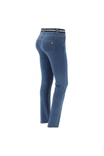 N.O.W.® Pants Denim-effect slim fit straight leg trousers