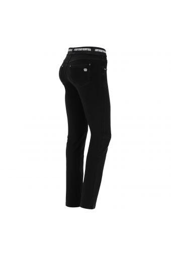 N.O.W.® Pants Slim-Fit-Hose mit Denim-Optik und geraden Saum