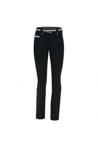 Slim-fit straight leg N.O.W.® Pants trousers in faux leather