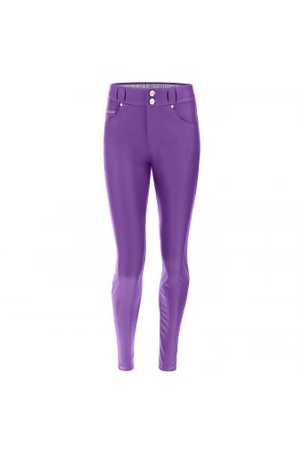 Breathable medium waist ankle-length N.O.W.® Pants trousers in faux leather