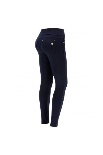 Slim-fit N.O.W.® cotton trousers with a foldable waist