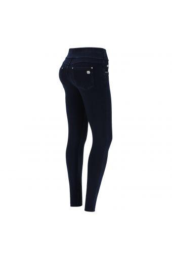 N.O.W.® Pants jerseyhose aus Denimstoff mit Umschlag an der Taille