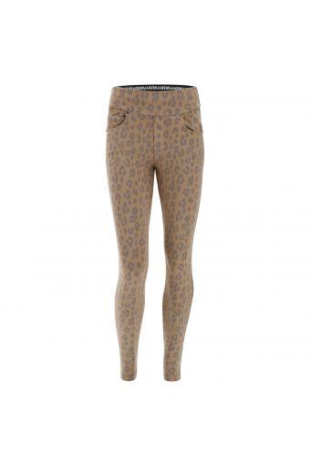 N.O.W.® Pants Yoga mit mittlerem Taillenbund mit Animal-Muster in passendem Farbton
