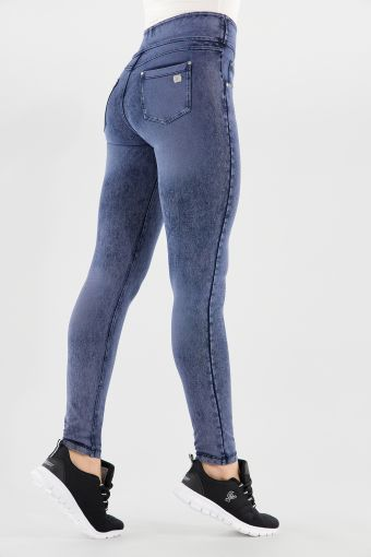N.O.W.® Pants Yoga mit buntem Denim-Effekt