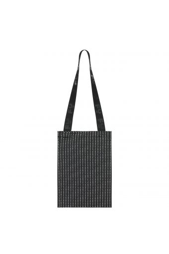 Packable shopper with a logo print