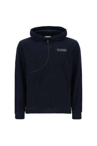 Sweatshirt CURVE mit Kapuze und Leistentaschen mit Reißverschluss
