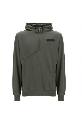 Grünes Military PRO Curve-Sweatshirt mit Kapuze