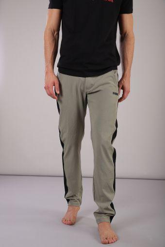 Long trousers with removable built-in briefs
