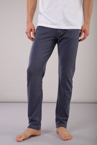 Long trousers in French terry with anatomic built-in briefs