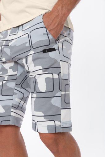 Bermuda PRO Pants 24/7 in camouflage grigio con No Logo