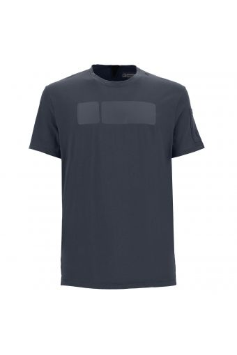 """Reguläres ergonomisches Fit-Sport-T-Shirt mit """"No Logo""""-Logo"""