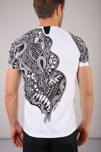 Short-sleeve Lalou tribal print t-shirt