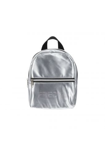 Metallic nylon mini backpack