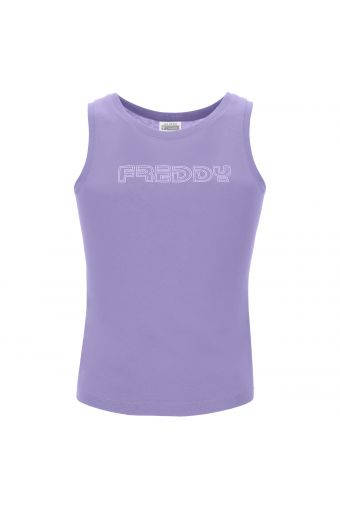 Camiseta sin mangas con tirantes regular y estampado ropa de niña