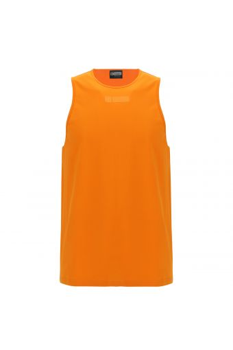 Men's tank top with a tone-on-tone logo