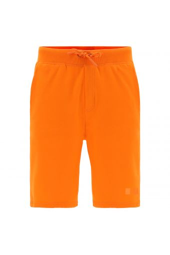 Plain-colour Bermuda shorts with pockets in stretch jersey