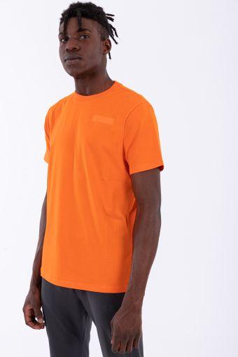 Elastisches einfarbiges Herren-T-Shirt mit kurzen Ärmeln