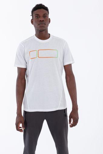 Herren-T-Shirt mit großem Logo mit Dégradé-Effekt