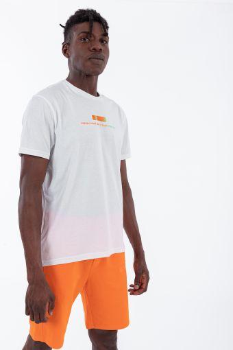 Camiseta de hombre con pequeño logotipo degradado