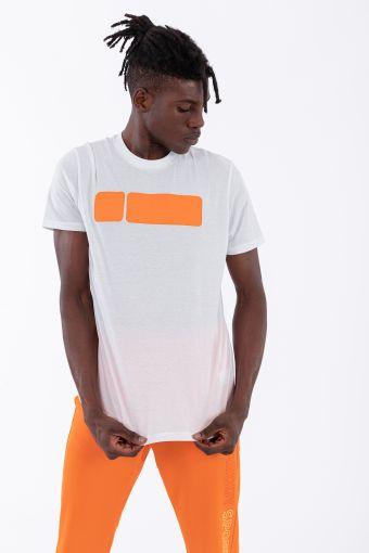 Tee-shirt pour homme avec grand imprimé en contraste
