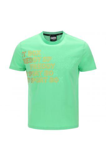 Camiseta de hombre con estampado de texto degradado