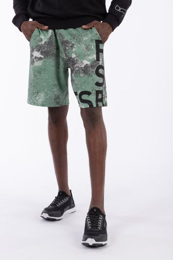Abstract camouflage comfort-fit Bermuda shorts