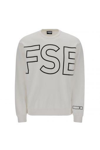 Felpa uomo girocollo con maxi lettering FSB in outline