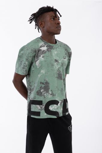 Comfort-fit t-shirt with an abstract camouflage print