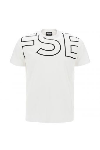Jersey t-shirt with maxi FSB outline lettering