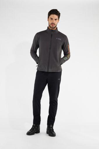 Men's lightweight fleece track suit with a multicolour print